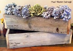 Reclaimed Lumber Home Decor Display Boxes - simple beauty.