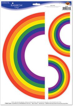 rainbow clings Case of 12