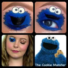 The Cookie Monster Makeup. YouTube channel: https://www.youtube.com/user/GlitterGirlC