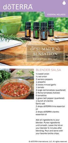 doTERRA Blender Salsa Recipe