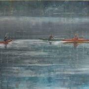 Kayaking 60cm x 75cm acrylic on canvas