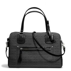 $248 The Poppy East/west Satchel In Mini Oxford Signature C Jacquard from Coach