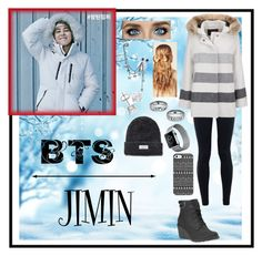 """""""~Jimin :: Play Warm~"""" by taeangel ❤ liked on Polyvore featuring NIKE, Woolrich, Timberland, Hershesons, Uncommon, women's clothing, women, female, woman and misses"""