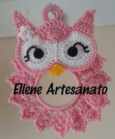 Ideas for crochet bag holder pattern projects Crochet Owls, Crochet Potholders, Crochet Amigurumi, Crochet Stitches Patterns, Crochet Motif, Crochet Crafts, Crochet Doilies, Crochet Projects, Hat Patterns