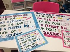 Addition subtraction strategies