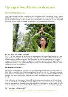 Tập yoga những điều nên và không nên by Làm đẹp tự nhiên via slideshare