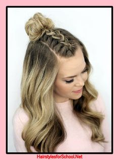 Trendy hairstyles for school teens medium lengths men hair - Hair Styles For School Prom Hair Medium, Medium Hair Styles, Curly Hair Styles, Natural Hair Styles, Natural Beauty, Open Hairstyles, Dance Hairstyles, Wedding Hairstyles, Feathered Hairstyles