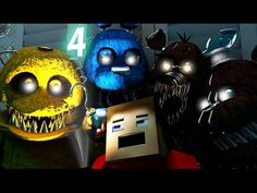 Five Nights At Freddy's 4 IN MINECRAFT [3D Minecraft Animation] FNAF 4 - YouTube