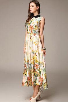 Dream Floral Print Midi Dress - OASAP.com $94