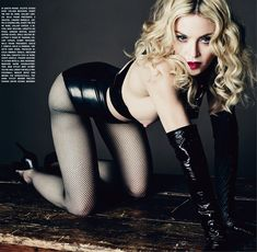 Madonna Flashes a Nipple in L'Uomo Vogue May/June 2014 (NSFW)