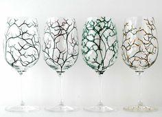 The Four Seasons Glasses  Set of 8 Hand by MaryElizabethArts, $140.00