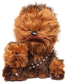 Chewbacca plush with sound. Look at the tiny one!