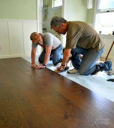 Laying an engineered hardwood floating floor