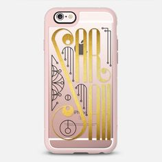 Sarah (Gold Lettering Art Deco transparent) - New Standard  Case #sarah #lettering #typography #name #gold #golden #artdeco #artnoveau #deco #noveau #steampunk #ornate #letter #case #iphone #cover #iphones6 #phone #casetify #transparent