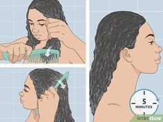3 Ways to Follow the Curly Girl Method for Curly Hair - wikiHow Make Hair Curly, Curly Hair Tips, Long Curly Hair, How To Make Hair, Wavy Hair, Curly Hair Styles, Red Hair, Natural Hair Twists, Natural Hair Updo