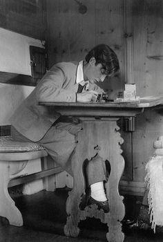 Swiss adventurer and writer at work... Annemarie Schwarzenbach (1908-1942)