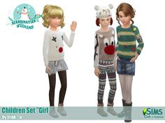 Sims 4 CC's - The Best: Clothing for Boys and Girls by Irink@a