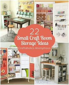22 small craft room storage ideas