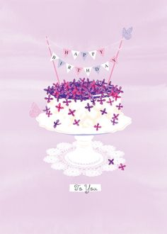 Debbie Edwards - Female Birthday Flowers And Cake With Bunting