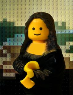 Mona Lisa has never looked happier ;) Marco Pece is an Italian photographer with a fascination with Legos. An art lover himself, his recent work recreates famous paintings in perfect detail, using the ubiquitous bricks. This is his Mona Lisa with Lego. Le Sourire De Mona Lisa, Legos, Lego Lego, Lego Painting, Painting Art, Mona Lisa Parody, Brick Art, Lego Mecha, Lego Worlds