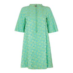 1960s Jean Muir Turquoise Dress | From a collection of rare vintage day dresses at https://www.1stdibs.com/fashion/clothing/day-dresses/