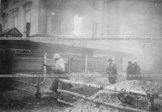 Уличные бои в городе Гатчина. Дата съемки 26 января 1944 г