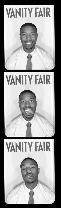 Michael B. Jordan (Vanity Fair Photobooth) ---- omg i love this man with all of my...yea, heart {wink wink}