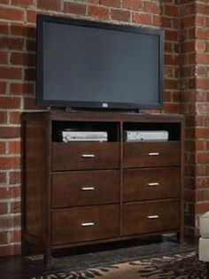 Spencer Transitional Cappuccino Media Chest