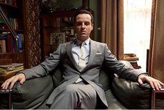 Maniac!  He's so good! Andrew Scott as Jim Moriarty