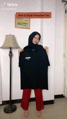 Hajib Fashion, Modern Hijab Fashion, Street Hijab Fashion, Hijab Fashion Inspiration, Muslim Fashion, Fashion Outfits, Casual Hijab Outfit, Casual Outfits, Outfit Look