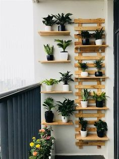 Solution Ideas for Small Balcony: Wall Planter - Unique Balcony & Garden Decoration and Easy DIY Ideas Garden Garden apartment Garden ideas Garden small Small Balcony Design, Small Balcony Garden, Small Balcony Decor, Balcony Plants, Balcony Ideas, Patio Ideas, Narrow Balcony, Small Balconies, Patio Design