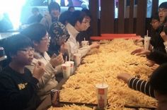 Korean kids get kicked out for ordering $250 worth of french fries at McDonalds