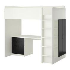 juego de cama ikea + escritorio cajones y closet para niños