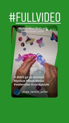 Time lapse video Surrealism, Mystic, Believe, Mixed Media, How To Plan, Artist, Instagram, Mixed Media Art, Artists
