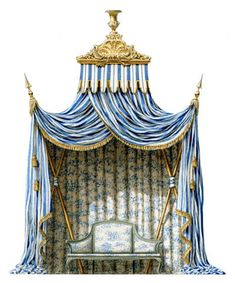 Ephemeral garden tents became extremely fashionable at Versailles during the reign of Louis XVI, as their ease of construction, inherent theatricality and low cost made them the perfect foil for the numerous, equally extravagant fêtes hosted by Marie-Antoinette at Trianon. Elaborate garden parties, often spanning a week's festivities, were an ancient royal tradition and were first mounted at Versailles by Louis XIV in the late 1600s.