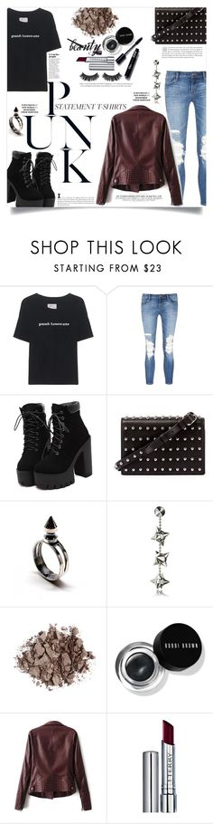 """""""Punk Laureate"""" by elimarga ❤ liked on Polyvore featuring Current/Elliott, J Brand, Alexander Wang, Dsquared2, Bobbi Brown Cosmetics, By Terry and statementtshirt"""