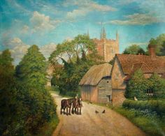 Old Basing Church. Old Basing Church by Frederick Thomas Pearce Basingstoke and Deane Borough Council      Date painted: 1920     Oil on canvas, 101 x 126 cm     Collection: Basingstoke and Deane Borough Council BBC Your Paintings.
