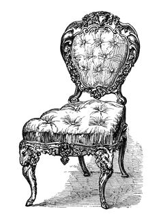Here Are Five Beautiful Antique Chair Clip Art Engravings