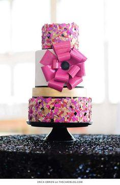 Confetti throwing cake