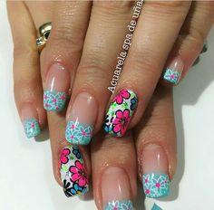 Nail Colors, Hair Beauty, Nail Art, My Style, Nails, Work Nails, Beauty, Flowers, Finger Nails
