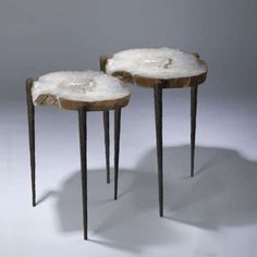 Tyson.London side tables. The tops are huge slices of agate. Hnnngh! £3,250.00