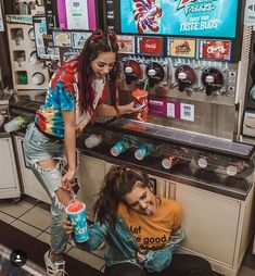 》》》 Friend photoshoot idea - aesthetic slushie machine 💕💙💚 ideas for best friends Bff Pics, Photos Bff, Cute Friend Pictures, Friend Photos, Cute Bestfriend Pictures, Best Friend Fotos, Best Friend Things, Best Friend Pics, Best Friend Photography