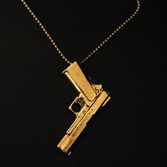 Colt Pistol Necklace now featured on Fab.