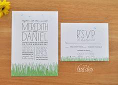 Wedding Invitation - rustic and sweet