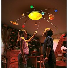Uncle Milton Explore It Remote Controlled Solar System In My Room - Solar System Mobile and Room Light