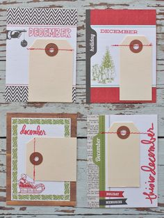 Mish Mash: Project December...4 x 6 insert cards + Week in Review cards