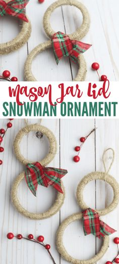 These Mason Jar Lid Snowmen Ornaments are so cute and really easy to make! This is a fun holiday project to do with the kids! Snowman Ornaments, Diy Christmas Ornaments, Handmade Christmas, Kids Christmas, Snowmen, Christmas Decorations, Christmas Parties, Craft Activities For Kids, Crafts For Kids