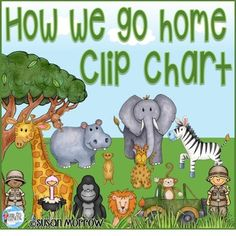 Jungle Theme How We Go Home Chart Editable! - Jungle Theme Classroom Decor - Do you often wonder how your students go home each day? NOT anymore!! Keep track of how your preschool, Kindergarten, 1st, 2nd, 3rd, or 4th grade students get home each day with this jungle safari themed resource! Click through to see how this could work in your rainforest or monkey theme classroom. It's perfect! Plus it's editable!! $