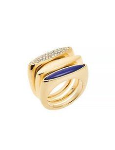 Michael Kors Crystal Lapis Stack Ring
