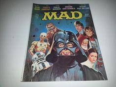 Vintage Mad Magazine No. 196 January 1978 Star Wars Darth Vader Cover